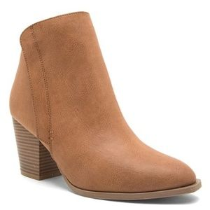 Qupid Prenton cognac pointed ankle boots